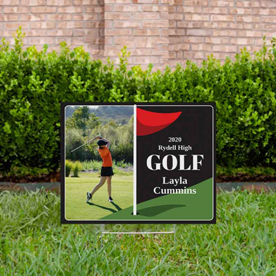 Golf Yard Sign Design 4 Black