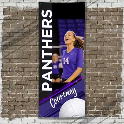 Volleyball - Player Banner - Purple