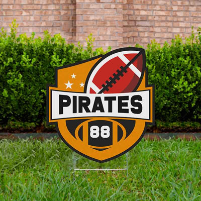 Football Yard Sign Design 1 - Orange
