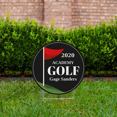 Golf Yard Sign Design 2 Black