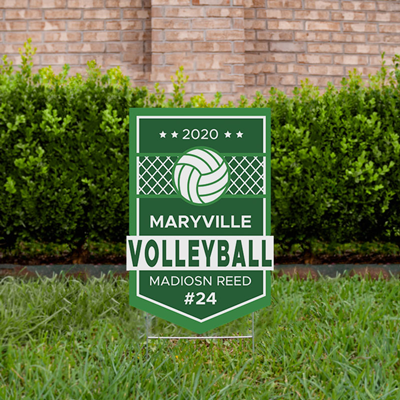 Volleyball Yard Sign Design 1 Green