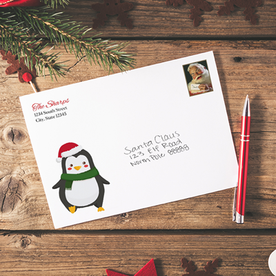 Penguin A7 Christmas Envelope