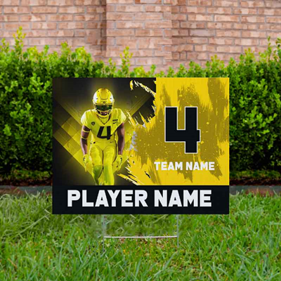 Football Yard Sign Design 2 - Yellow