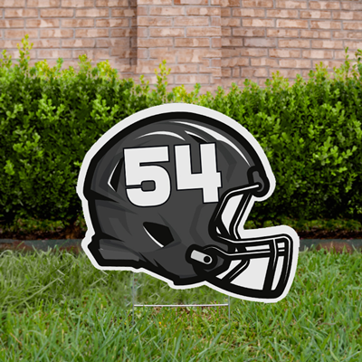 Football Yard Sign Design 3 - Black