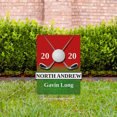 Golf Yard Sign Design 3 Red